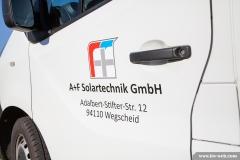Beschriftung Transporter - A+F Solartechnik GmbH