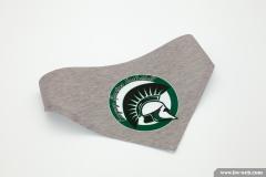 Hundehalstuch bedruckt mit dem Logo der Freyung Spartans Basketball