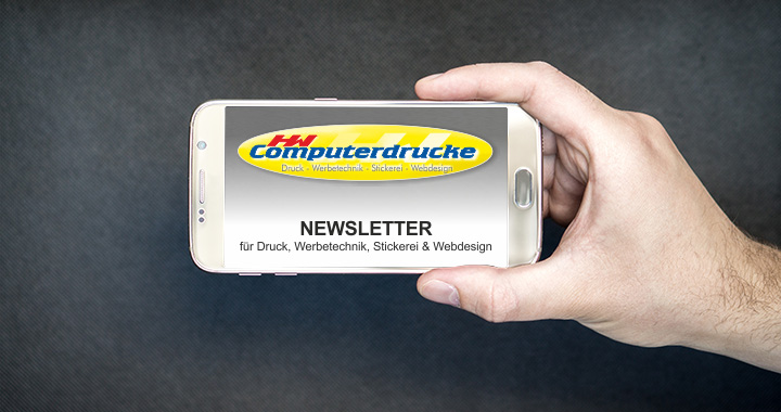 Newsletter für Druck, Werbetechnik, Stickerei und Webdesign