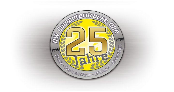 25 Jahre HW Computerdrucke GbR - Druck, Werbtechnik, Stickerei, Webdesign