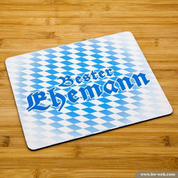 """Mousepad mit bayerischem Aufdruck """"Bester Ehemann"""""""
