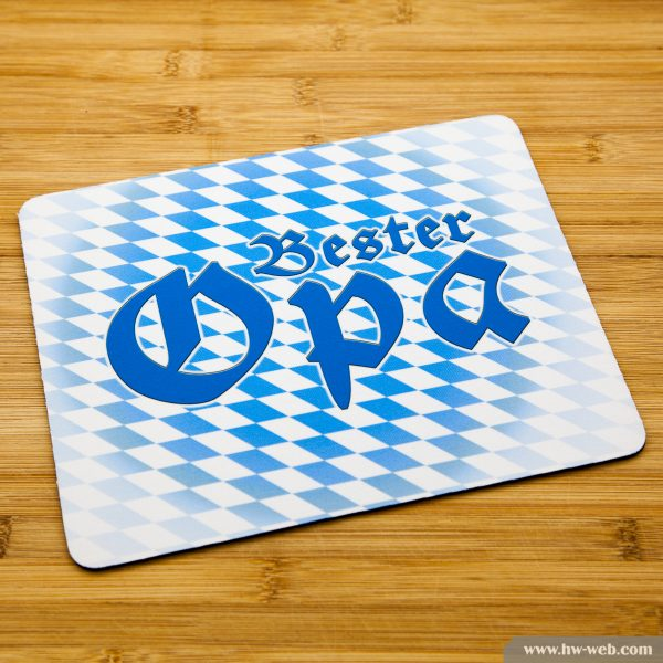 """Mousepad mit bayerischem Aufdruck """"Bester Opa"""""""