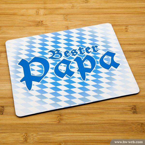 """Mousepad mit bayerischem Aufdruck """"Bester Papa"""""""