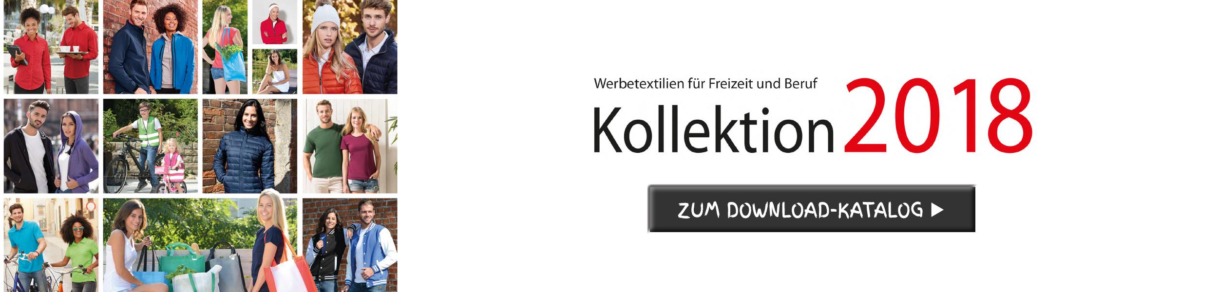 """Der Textilkatalog """"Kollektion 2018"""" ist online - hier gehts zum Download."""